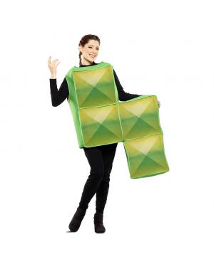 Fato de Tetris Verde Adulto para Carnaval