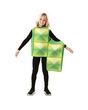 Fato de Tetris Verde para Criança para Carnaval