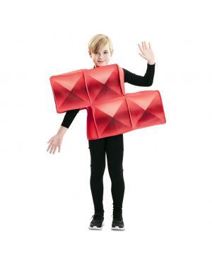 Fato de Tetris Vermelho para Criança para Carnaval