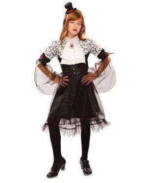 Fato De Vampira Escura Infantil para Carnaval