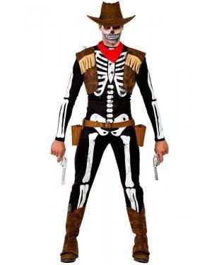 Fato de Vaqueiro Esqueleto Homem