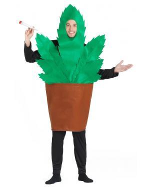 Fato de Vaso com Planta Marijuana para Carnaval