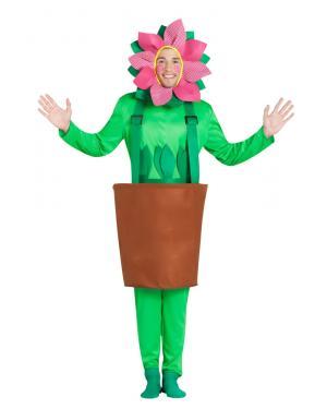 Fato de Vaso de Girassol para Carnaval