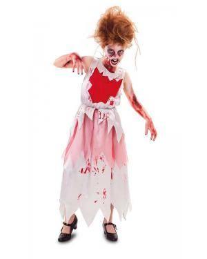 Fato de Zumbi Ensanguentada Menina para Carnaval o Halloween | A Casa do Carnaval.pt