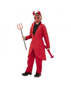 Fato Demónio Elegante Menino para Carnaval