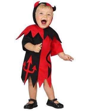 Fato Diabinha Vermelho Preto Bebé Disfarces A Casa do Carnaval.pt