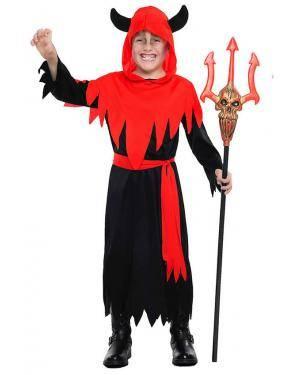 Fato Diabinho Menino para Carnaval ou Halloween 7123 - A Casa do Carnaval.pt