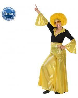 Fato Disco Dourado Menina Disfarces A Casa do Carnaval.pt