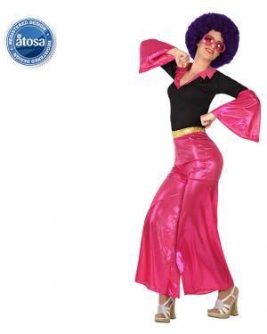 Fato Disco Mulher Rosa Adulto Disfarces A Casa do Carnaval.pt