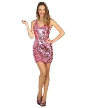 Fato Disco Rosa Mulher Adulto M/L Disfarces A Casa do Carnaval.pt