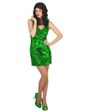 Fato Disco Verde Mulher Adulto M/L Disfarces A Casa do Carnaval.pt
