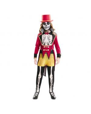Fato Domador Esqueleto Menina para Carnaval