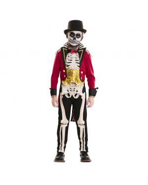 Fato Domador Esqueleto Menino para Carnaval