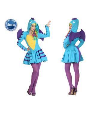 Fato Dragão Dinossauro Azul Sexy Disfarces A Casa do Carnaval.pt