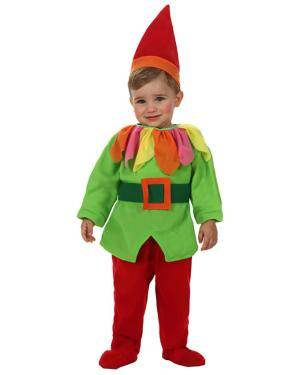 Fato Duende Vermelho e Verde Bebé Disfarces A Casa do Carnaval.pt