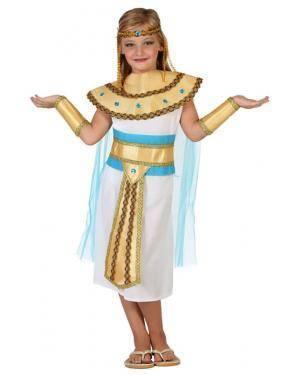 Fato Egipcia Branco Dourado Menina Disfarces A Casa do Carnaval.pt