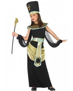 Fato Egípcia Dourada Menina para Carnaval