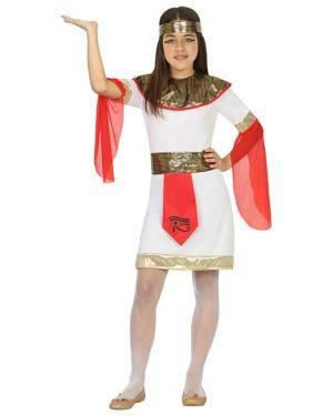 Fato Egípcia Menina de 3-4 anos Disfarces A Casa do Carnaval.pt
