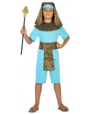 Fato Egípcio Azul Menino de 10-12 anos Disfarces A Casa do Carnaval.pt