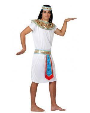 Fato Egipcio Branco Adulto Disfarces A Casa do Carnaval.pt