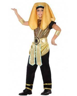 Fato Egípcio Dourado Menino para Carnaval