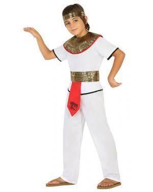 Fato Egípcio Menino de 5-6 anos, Loja de Fatos Carnaval, Disfarces, Artigos para Festas, Acessórios de Carnaval, Mascaras, Perucas 723 acasadocarnaval.pt