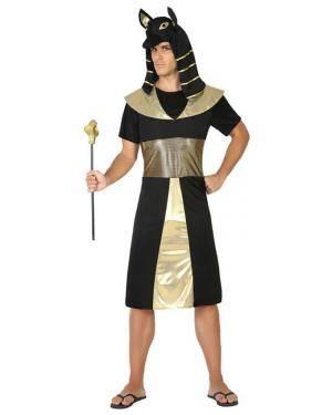 Fato Egípcio Preto/Dourado Homem Adulto M/L Disfarces A Casa do Carnaval.pt