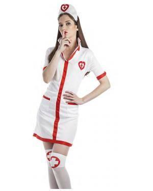 Fato Enfermeira Tamanho S para Carnaval