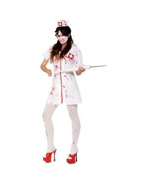 Fato Enfermeira Zombie Adulto para Carnaval