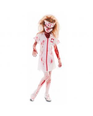 Fato Enfermeira Zombie Menina para Carnaval