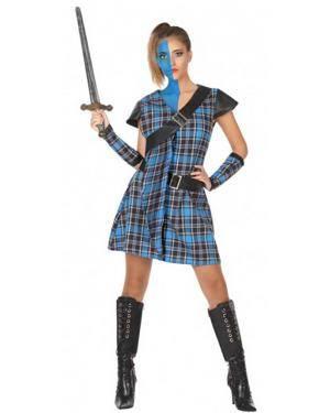 Fato Escocesa Azul Adulto para Carnaval