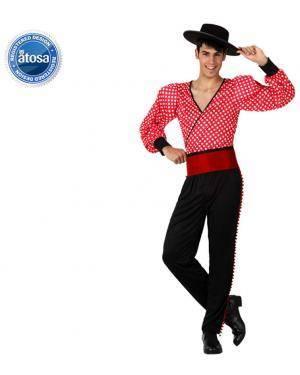 Fato Espanhol Flamenco Vermelho Adulto, Loja de Fatos Carnaval, Disfarces, Artigos para Festas, Acessórios de Carnaval, Mascaras, Perucas 842 acasadocarnaval.pt