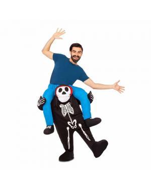 Fato Esqueleto Ás Costas M/L para Carnaval