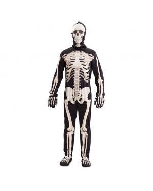 Fato Esqueleto de Luxo Adulto para Carnaval