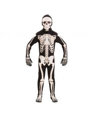 Fato Esqueleto Deluxe Criança para Carnaval