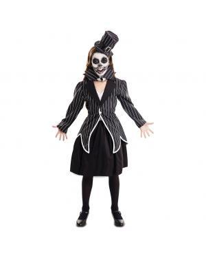 Fato Esqueleto Elegante Menina para Carnaval