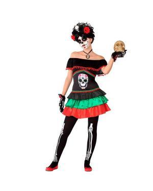 Fato Esqueleto Juvenil para Carnaval