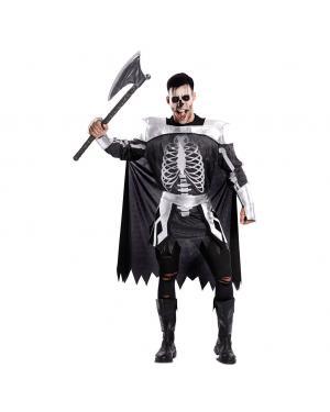 Fato Esqueleto Medieval Tamanho M/L para Carnaval
