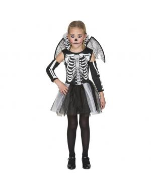 Fato Esqueleto Menina para Carnaval
