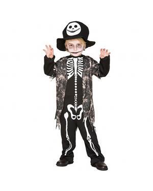 Fato Esqueleto Menino para Carnaval