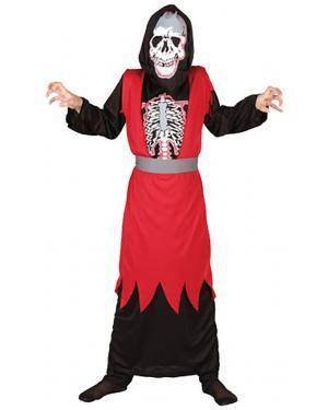 Fato Esqueleto Vermelho Criança Disfarces A Casa do Carnaval.pt