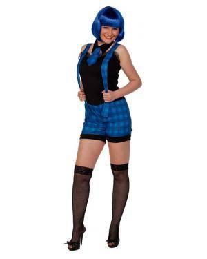 Fato Estudante Azul Mulher Adulto Disfarces A Casa do Carnaval.pt