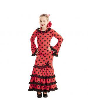 Fato Flamenco Vermelho Menina para Carnaval