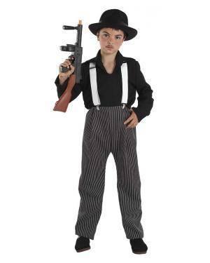 Fato de Gangster Infantil Menino para Carnaval | A Casa do Carnaval.pt