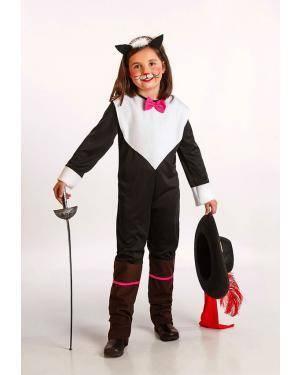 Fato Gata Mosqueteira Criança T. 8 a 10 Anos Disfarces A Casa do Carnaval.pt