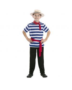 Fato Gondoleiro Criança para Carnaval