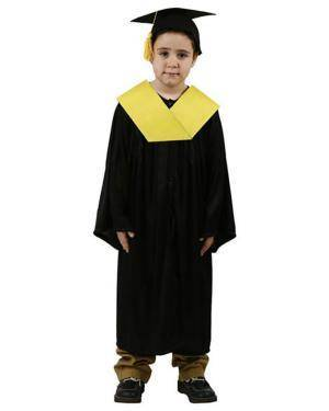Fato Graduado Licenciado Amarelo Menino Disfarces A Casa do Carnaval.pt