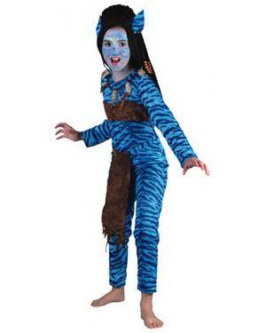 Fato Guerreira Avatar Menina 70604, Loja de Fatos Carnaval acasadocarnaval.pt, Disfarces, Acessórios de Carnaval, Mascaras, Perucas, Chapeus e Fantasias