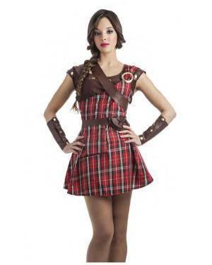 Fato Guerreira Escocêsa Vermelho T. M/L Disfarces A Casa do Carnaval.pt