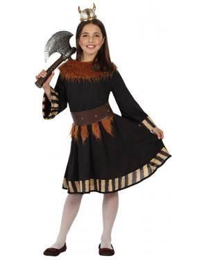 Fato Guerreira Viking Menina Disfarces A Casa do Carnaval.pt